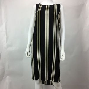 Vince Camuto Tunic Striped Open Overlay Hi-Lo